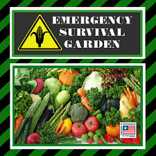 Emergency Survival Heirloom Garden Seed Pack Non Hybrid Non GMO MRE Food