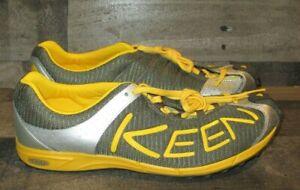 Keen Gray & Yellow Men's Trail Running Shoes 11.5 12014