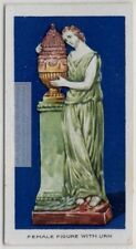 Female With Funeral Urn Staffordshire Glazed Pottery 1920s Ad Trade Card