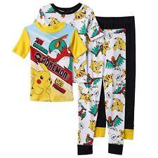 Pokemon Pikachu Battle 4-Piece Pajama Set Size 8 NWT Retail $46