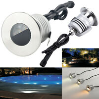 3W IP68 LED Underwater Light Fountain Pond Lighting Spotlight Swimming Pool Lamp