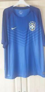 Brazil football shirt 3xl blue away mint condition