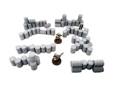 Baril barrel essence oil barricade X8 28mm 1/56 Warhammer Bolt Action Warlord