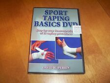 SPORT TAPING BASICS Athletic Trainers Coaches Tape Training Sports Team DVD NEW