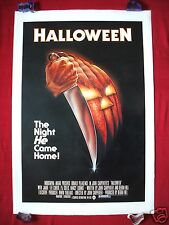 HALLOWEEN * 1978 ORIGINAL MOVIE POSTER 1SH LINEN BACKED BLUE RATINGS BOX BEAUTY