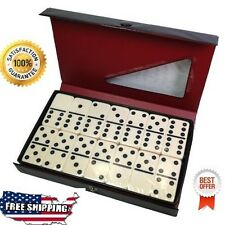Double Six Dominoes Professional Game Set 28 with Black Case/Ivory Tiles