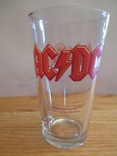 "2010 AC / DC 6"" Beer Glass ANGUS & MALCOM YOUNG BRIAN JOHNSON RUDD WILLIAMS"