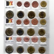Euro BELGIO 1999 2000 2001 in Blister 24 Monete FDC