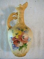 Antique Art Nouveau Royal Teplitz Austrian Bohemian Amphora Ewer Pitcher Vase