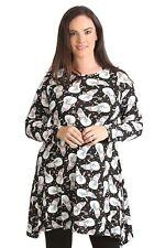 Womens Dress Ladies Plus Size Snowman Print Christmas Party Swing Top Nouvelle