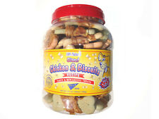 GIANT CHICKEN AND BISCUITS DOG TREATS  2- 2.75lbs. Jars