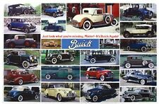Buick 1920's -1940's History - Out of Print Very Hard to Find Car Poster