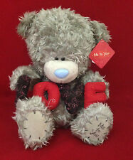 """ME TO YOU BEAR TATTY TEDDY 12"""" LOVE RED & BLACK LETTERS"""