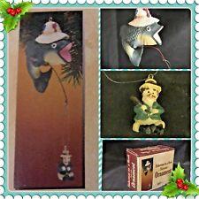 "Hilarious ""FISHERMAN ON A HOOK"" Polynesin ORNAMENT Christmas/ Gag Gift/ Funny"