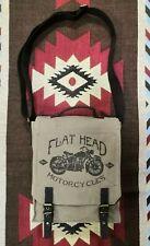 The Flat Head TFH Canvas Shoulder Messenger Mail Bag Iron Heart