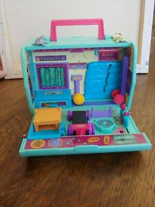 Vtg 1995 GALOOB Pound Puppies Pet Gym,and Gold Metal Pets W/4 Pets