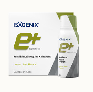 Isagenix e+ Shots Lime Flavour Super Energy Naturally Increase Stamina Alertness