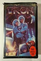 Tron VHS 1982 Action/Sci-Fi Steven Lisberger Walt Disney Home Video (Ex-Rental)