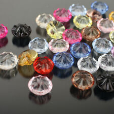 Bulk Clear Acrylic Buttons Round Crystal Clothing Sewing Crafts DIY Decoration