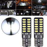 2x T10 168 194 W5W 3014 24SMD LED Canbus No Error Car Side Wedge White LED Light