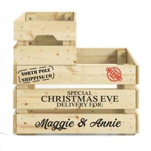 Christmas Eve box crate DIY personalised decal set sticker with north pole stamp