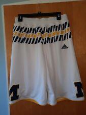 Adidas University Of Michigan Athletic Basketball Shorts Large