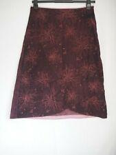 White Stuff Skirt 12 Burgundy Pink Needlecord