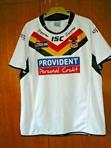 Bradford Bulls Rugby League Football Jersey Shirt by ISC White size 2XL XXL