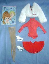 Vtg Barbie Doll Clothes #942 Ice Breaker1962-64Skirt Jacket Skates Nylons Shirt