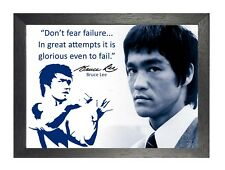 Bruce Lee 64 Hong Kong American Actor Film Director Martial Arts Quote Poster