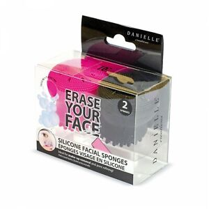 Erase Your Face 2 pack of Silicone Facial Sponges - Make-up Remover Pore Refiner