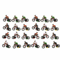 12 x scale new model railway train people figures cyclist bike H0 HO gauge 19mm