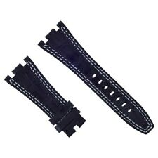 28MM LEATHER WATCH BAND STRAP FOR AUDEMARS PIGUET ROYAL OAK OFFSHORE BLACK WS