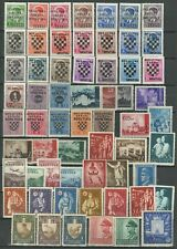 WWII Croatia - NDH 1941/45  ☀ Small Collection of MH/MNH stamps