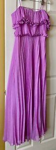 Halston Heritage Evening Collection Dress Size S Purple