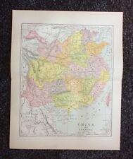 Vintage Original Map 1897 China, Eaton & Mains