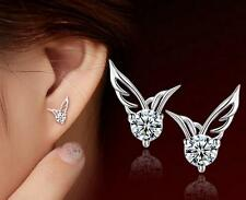 1 pair Arrival Silver Plated Jewelry Angel Wings Crystal Ear Studs Earrings Hot