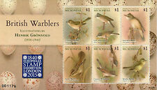 Micronesia 2015 MNH British Warblers Gronvold Europhilex 6v M/S Birds Stamps