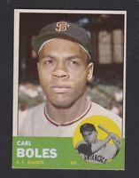 1963  TOPPS  BASEBALL # 428  CARL  BOLES   EXMT/NM  CONDITION INV 8685