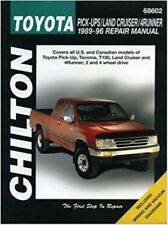 1989-1996 Toyota Tacoma Pick-up Land Cruiser 4Runner Chilton Repair Manual 6826