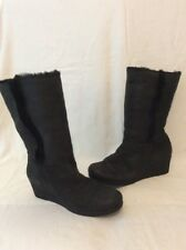 Unisa Black Mid Calf Leather Boots Size 38