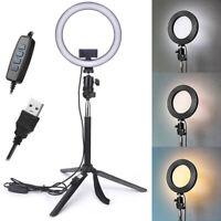 """10"""" Dimmable 5500K LED Ring Light Kit + Tripod for Phone Camera Selfie  BLATA Bs"""