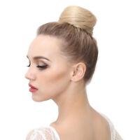 Straight Hair Bun Updo Cover Chignon Drawstring Clip In Hair Piece Extensions