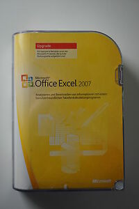 Office Excel 2007 Upgrade Retail Box deutsch 065-04917 inkl. Zweitlizenz
