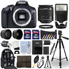 Cámara SLR Canon EOS T6/1300D D + Lente 18-55mm + Paquete de Accesorios Multi 24GB
