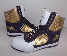 APPLE BOTTOMS STYLE RIANNA GIRLS HI-TOP FASHION SNEAKERS SHOES SZ 7 Purple Gold