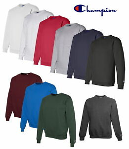 Champion Men's Crewneck Eco Fleece Pullover Sweatshirt S600 - Choose Size &
