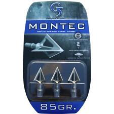 "G5 Broadhead Montec 3pk 85 Grain 1"" Cut #00116 Stainless Steel"