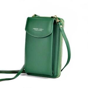 Women Mobile Phone Bag PU Leather Crossbody Mini Purse Wallet Shoulder Pouch A+