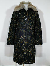 Desigual Damen Mantel Größe 44 Übergangsmantel Wolle (B396)